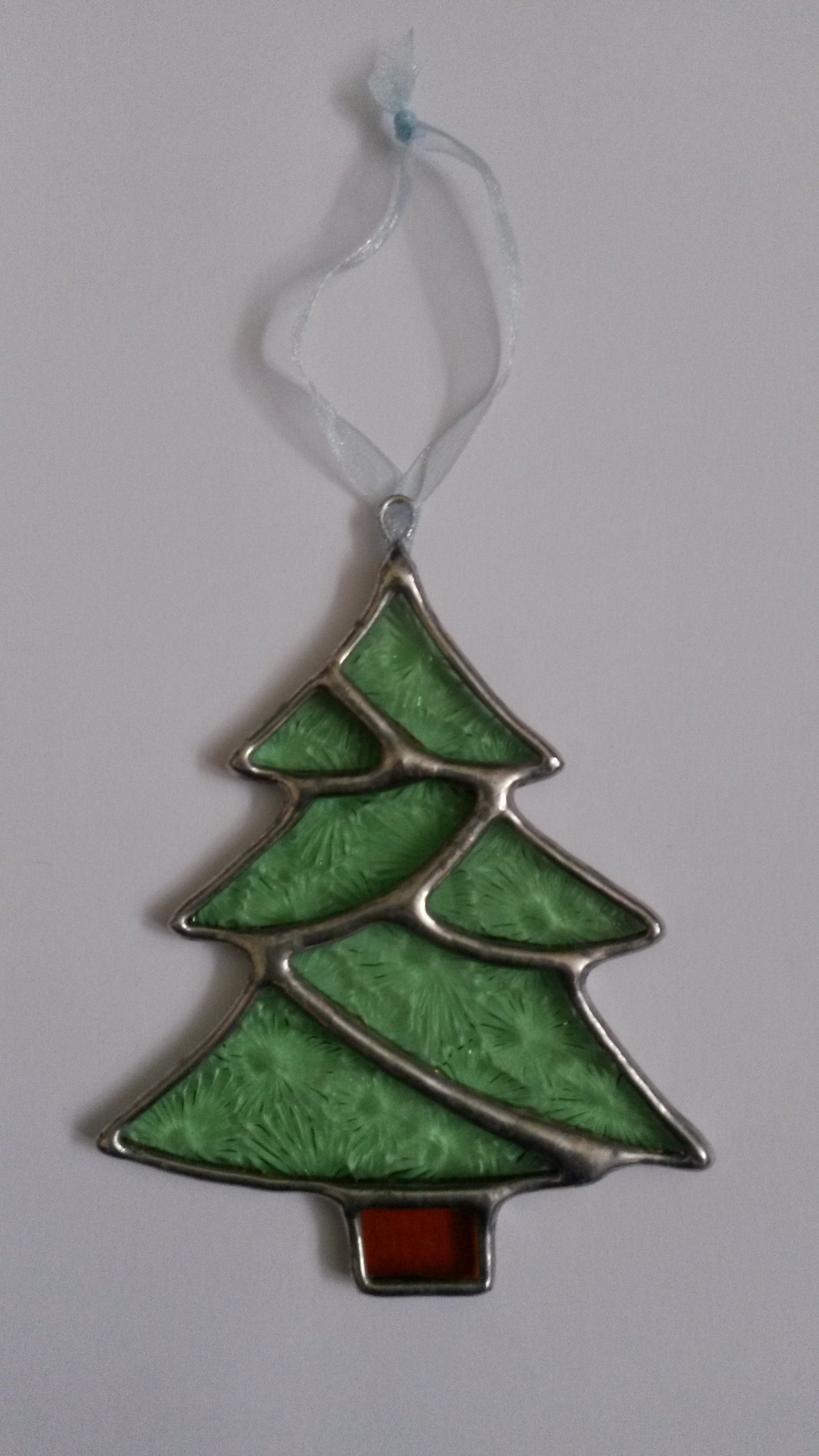 Christmas Tree Stained Glass Christmas Decoration ...