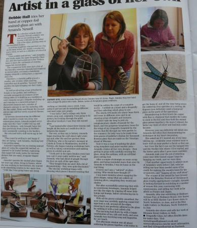 The Journal Magazine features Dragonfly Glass Art taster days!